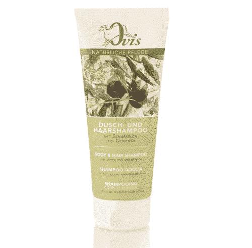 Dusch - u. Haarshampoo mit Olivenöl - Ovis 200 ml