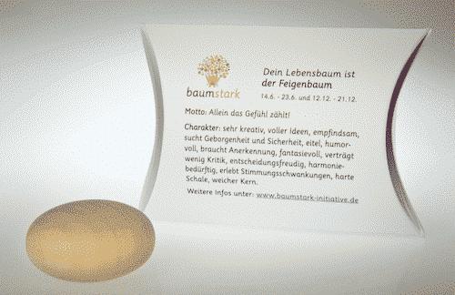 Baumstark Handschmeichler Feigenbaum - 14. Juni bis 23. Juni und 12. Dezember bis 21. Dezember - Rückseite