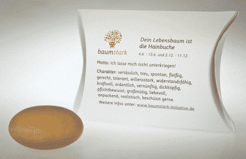 Baumstark Handschmeichler Hainbuche - 04. Juni bis 13. Juni und 2. Dezember bis 11. Dezember - Rückseite