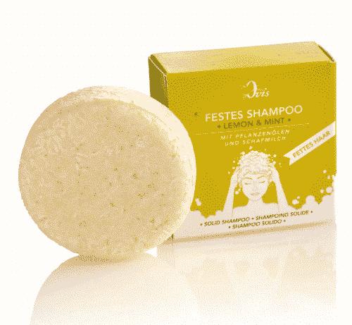 Festes Shampoo Lemon - Mint - Palmölfrei - Ovis 50 g