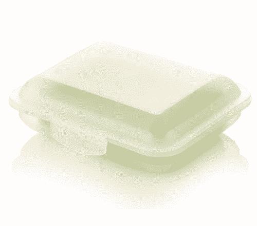 Klickbox für Seifen - Weiß - Ovis 11 x 9 x 3,5 cm