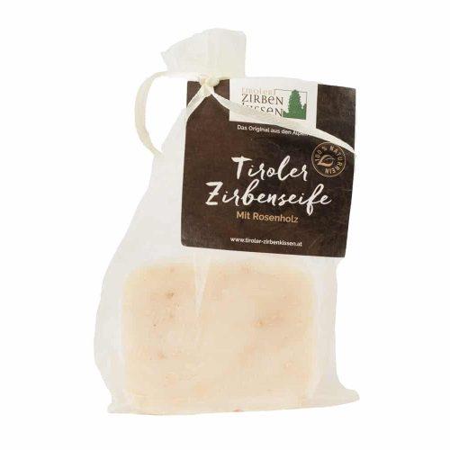Seife mit Zirbe und Rosenholz 80 g