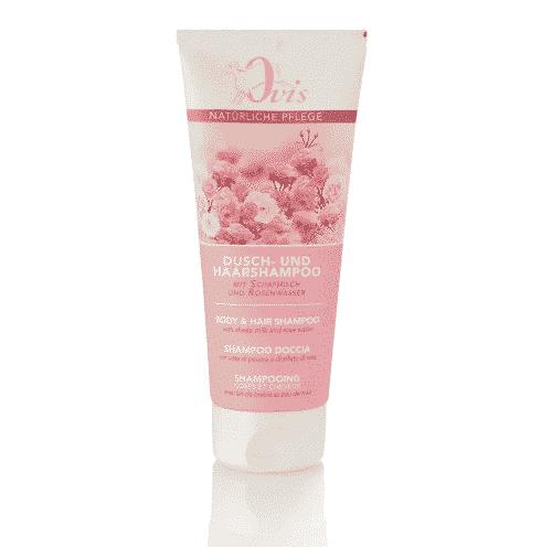 Dusch- u. Haarshampoo mit Rosenwasser und Schafmilch - Ovis 200 ml