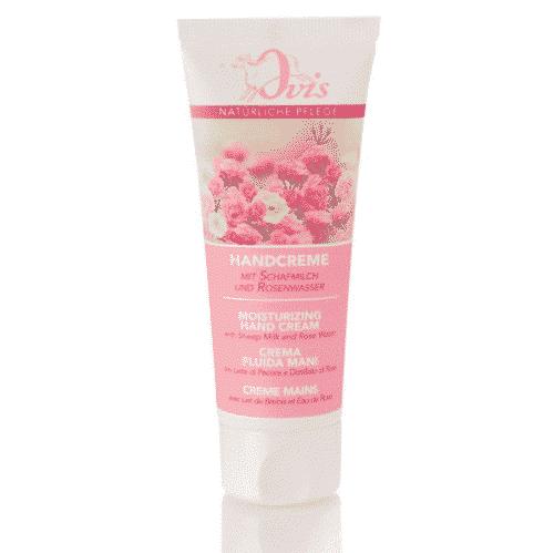 Handcreme mit Rosenwasser Sheabutter und Schafmilch - Ovis 75 ml