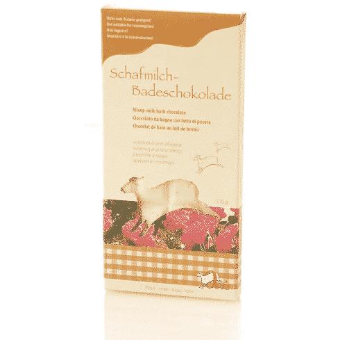 Badezusatz Schafmilch - Badeschokolade Rose - Ovis 110 g