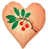 Kirschkernkissen Herz - Wärmekissen - 22 x 24 cm