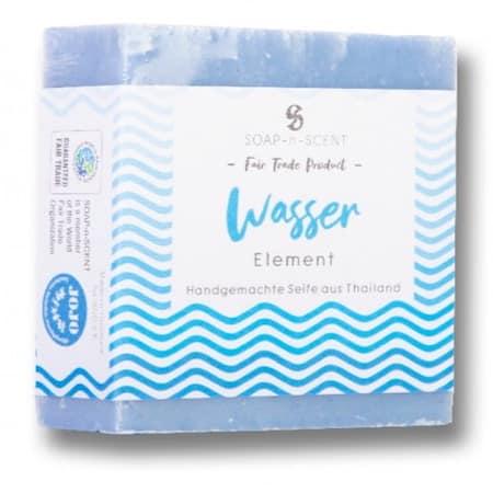 Seife Handgemacht - Element Wasser mit Band