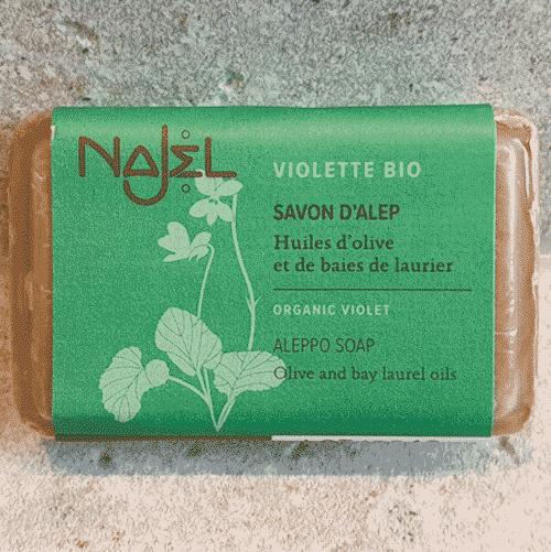 Aleppo Seife mit Veilchen BIO - Najel 100 g