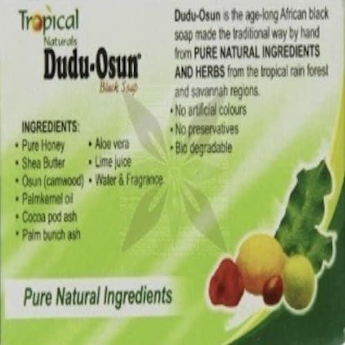 Schwarze Seife BIO Handgemacht Dudu Osun 150 g Rückseite