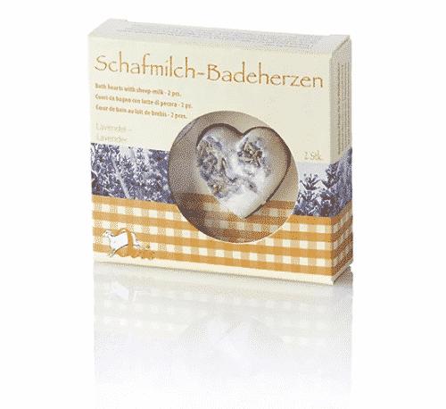 Badezusatz Schafmilch - Badeherzen Lavendel - Ovis 18 g