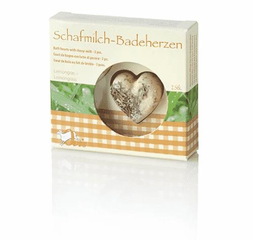 Badezusatz Schafmilch - Badeherzen Lemongrass - Ovis 18 g