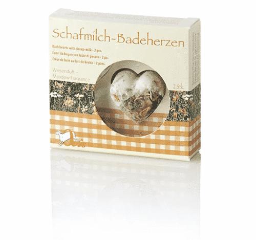Badezusatz Schafmilch - Badeherzen Wiesenduft - Ovis 18 g