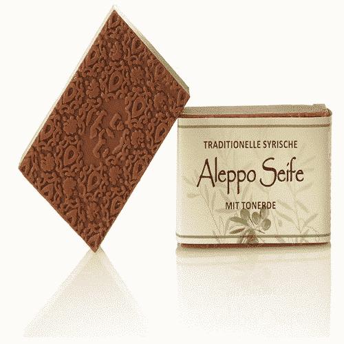 Aleppo Seife mit Olivenöl und roter Tonerde 100 g