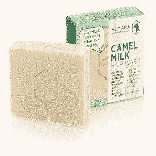 Haarseife Handgemacht mit Kamelmilch und Bio Arganöl Ovis 120 g