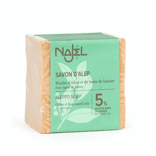 Aleppo Seife mit Oliven - und 5 % Lorbeeröl Najel 200 g