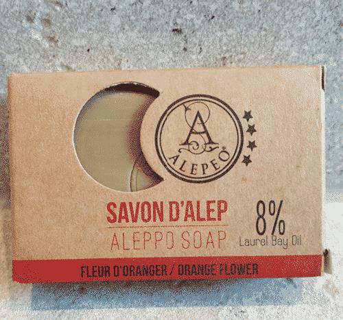 Aleppo Seife mit Orangenblüten - Alepeo 100 g