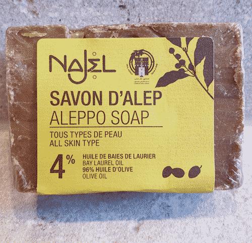Aleppo Seife mit Oliven - und 4 % Lorbeeröl - 155 g
