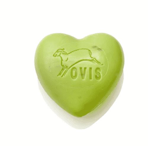 Schafmilchseife Herz mit Eisenkraut - Ovis 75 g