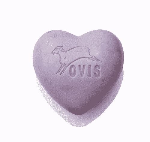 Schafmilchseife Herz mit Lavendel - Ovis 75 g