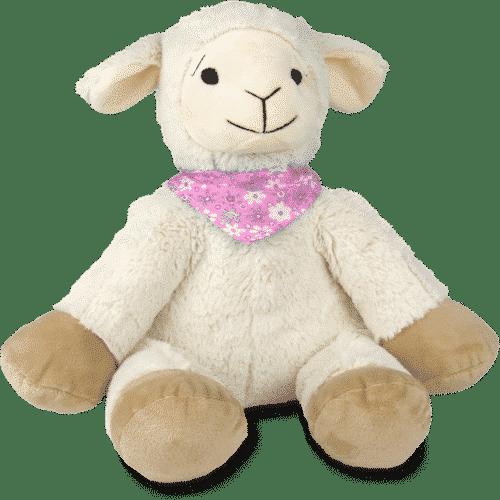 Kuscheltier Schaf mit Zirbenspänen - Flory - Rosa Vorderseite