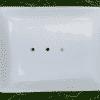 Seifenschale aus Porzellan - Weiß