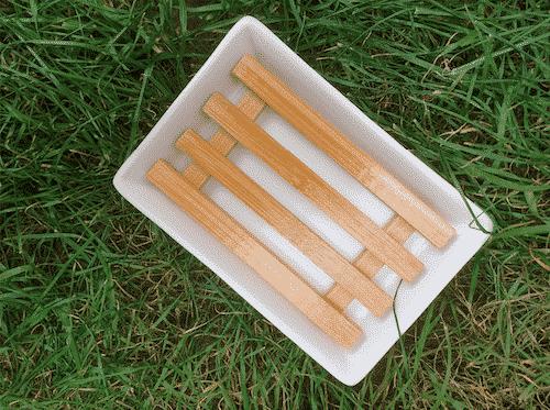 Seifenschale Weiß - Bambus & Porzellan - Bild 2