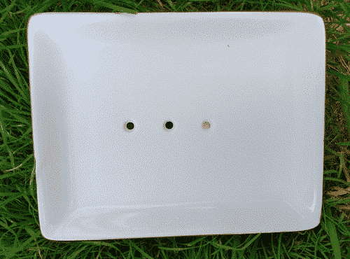 Seifenschale aus Porzellan - Weiß - Eckig