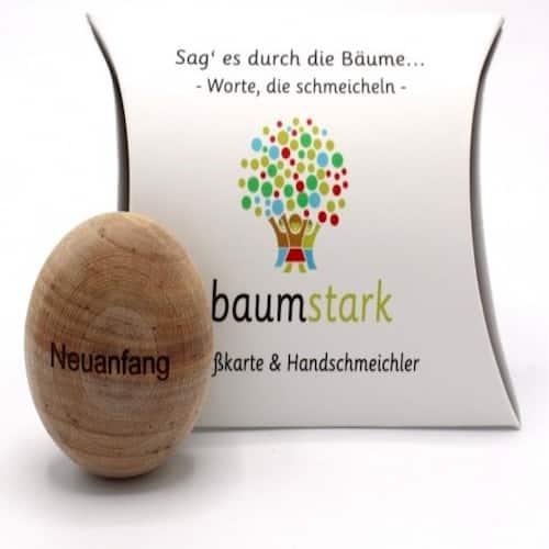 Grußkarte - Box mit Handschmeichler Birke zur Lebenskrise - Vorderseite - Geschenk aus Holz