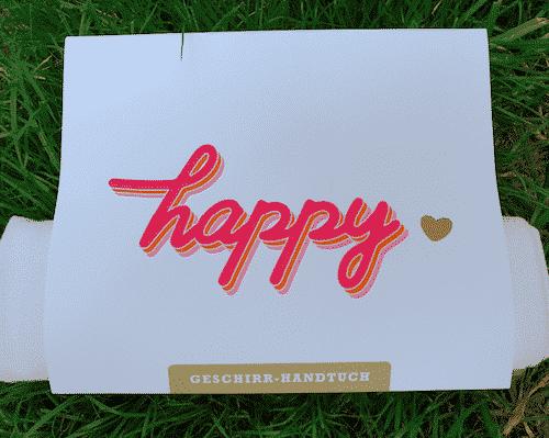 Geschirrtuch - Happy