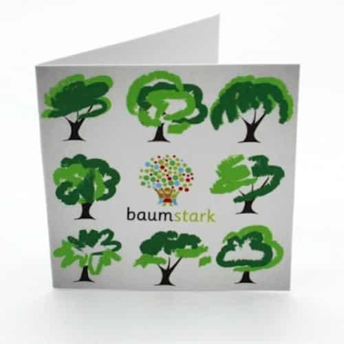 Grußkarte - Box mit Handschmeichler Ginkgo - Grußkarte