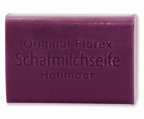 Seife mit bio Schafmilch und Holunder - Florex 100 g