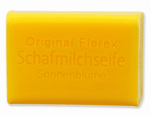 Seife mit bio Schafmilch und Sonnenblume - Florex 100 g