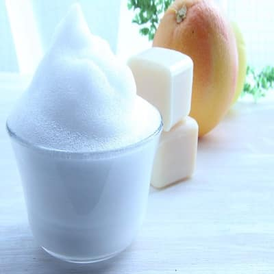 Rasierseife mit Bio Schafmilch - Schaum