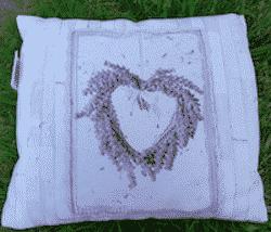 Duftkissen Herz mit Lavendel