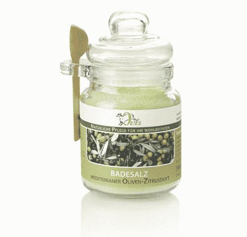 Badesalz mit Oliven - Zitronenduft - Ovis 300 g