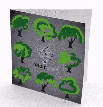 Grußkarte - Box mit Handschmeichler Nussbaum - Trostspender - Trost & Halt - Karte