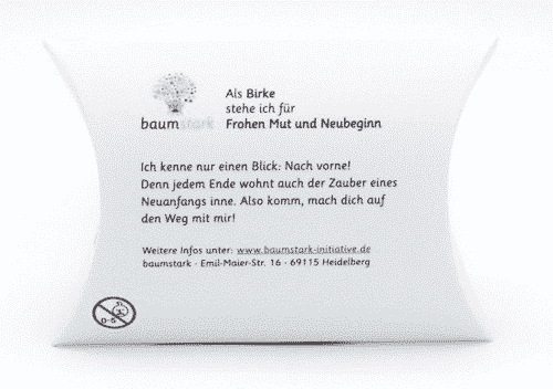 Seelenschmeichler Birke - Neuanfang - Rückseite