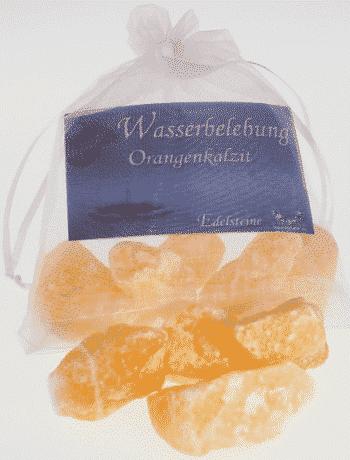Edelstein Orangenkalzit - Wasserbelebung