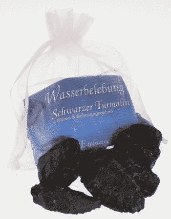 Edelstein Schwarzer Turmalin - Wasserbelebung