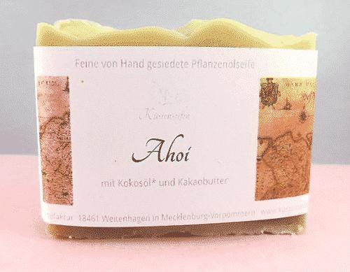 Bio Seife Ahoi mit Kakaobutter & Kokosöl - Küstenseife 80 g