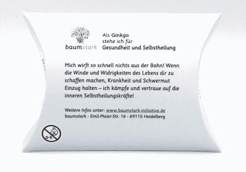 Seelenschmeichler Gingko - Rückseite