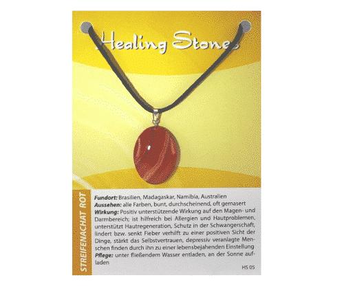 Edelsteinkette Streifenachat - Healing Stones
