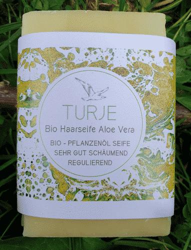 Bio Haarseife TURJE mit Aloe Vera - Küstenseife 80 g