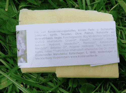 Bio Seife Strandsegler mit Rügener Heilkreide - Rückseite