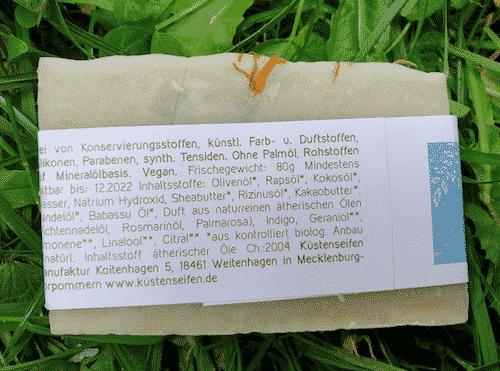 Bio Seife Zaubersee mit Fichtennadelöl & Rosmarin - Rückseite