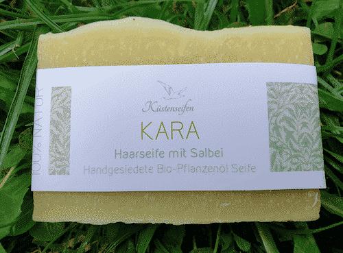 Bio Haarseife KARA mit Salbei - Küstenseife 80 g