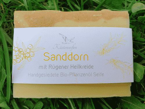 Bio Seife mit Sanddorn und Rügener Heilkreide - Küstenseife 80 g