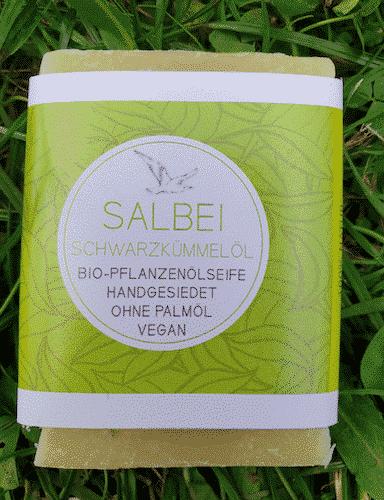 Bio Seife Salbei mit Shea und Schwarzkümmelöl - Küstenseife 80 g