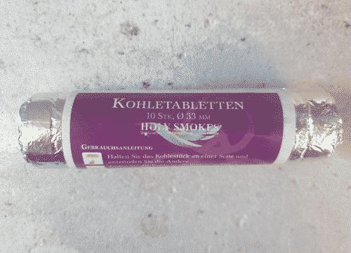 Räucherkohle - 1 Rolle - 33 mm