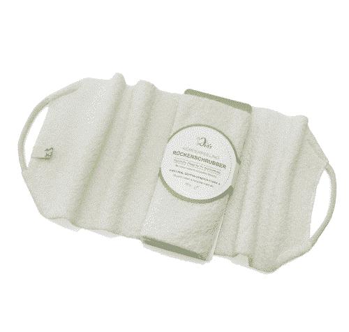 Rückenschrubber mit bio Baumwolle - Ovis 45 x 18 cm